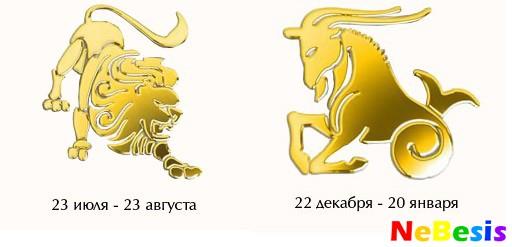 Козерог-мужчина и Лев-женщина