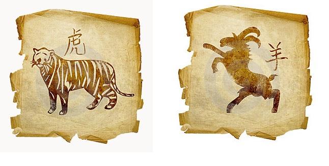Тигр-мужчина и Коза-женщина