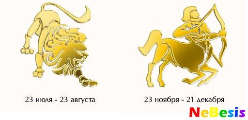 Лев-мужчина и Стрелец-женщина