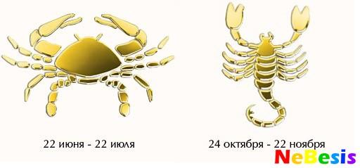 Скорпион-мужчина и Рак-женщина