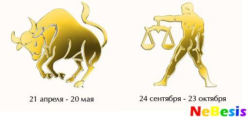 Весы-мужчина и Телец-женщина