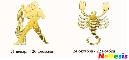 Водолей-мужчина и Скорпион-женщина