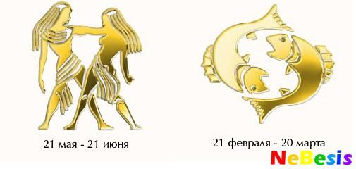 Рыбы-мужчина и Близнецы-женщина