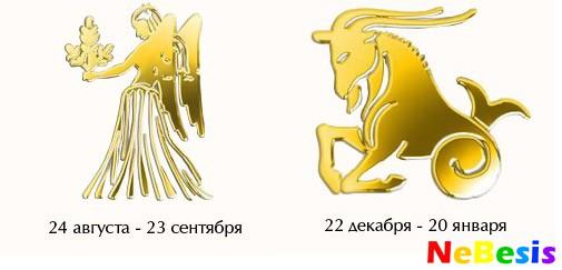 Козерог-мужчина и Дева-женщина