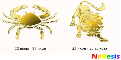 Лев-мужчина и Рак-женщина