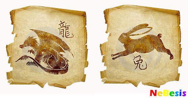 Дракон-мужчина и Кролик-женщина