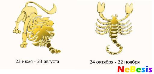Скорпион-мужчина и Лев-женщина