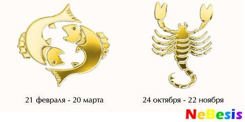 Скорпион-мужчина и Рыбы-женщина
